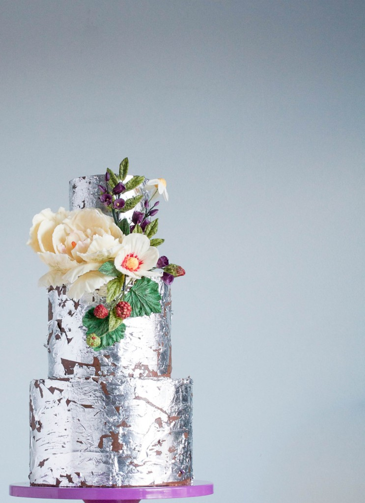 ErinBakes.com for The Cake Blog | 2015 Wedding Cake Trends | Organically Styled Florals