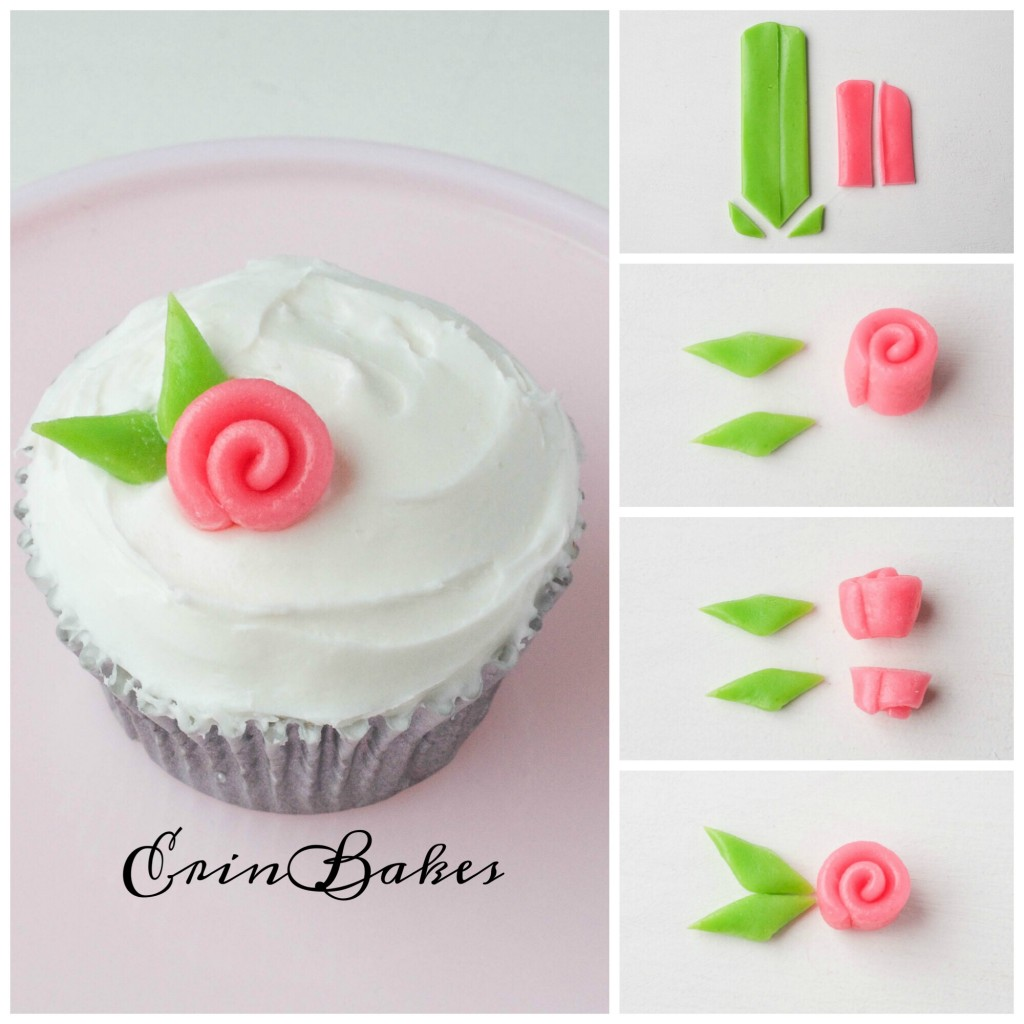 Airhead Ribbon Rose Cupcake Topper | Erin Bakes
