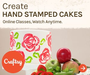 Hand-Stamped Cakes Craftsy Class | Erin Gardner