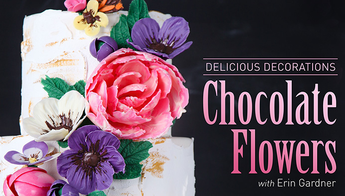 Chocolate Flowers | Erin Bakes