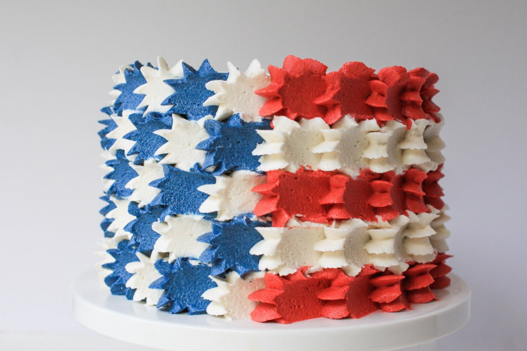 Stars And Stripes Buttercream 4th Of July Cake |Erin Bakes