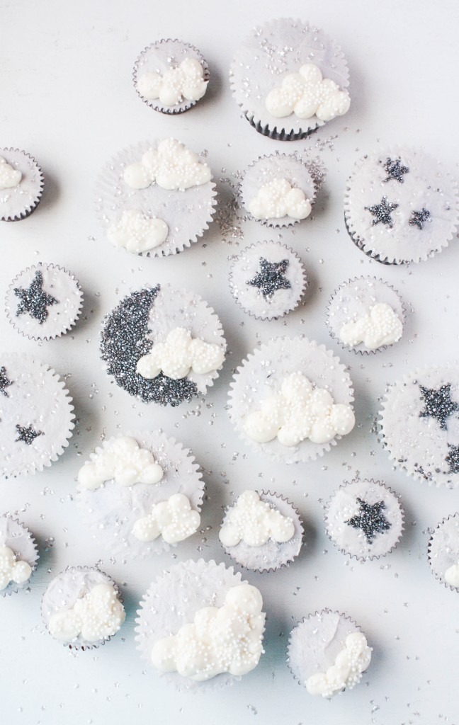 Sparkly Star, Moon, & Cloud Cupcakes | Erin Gardner | Craftsy