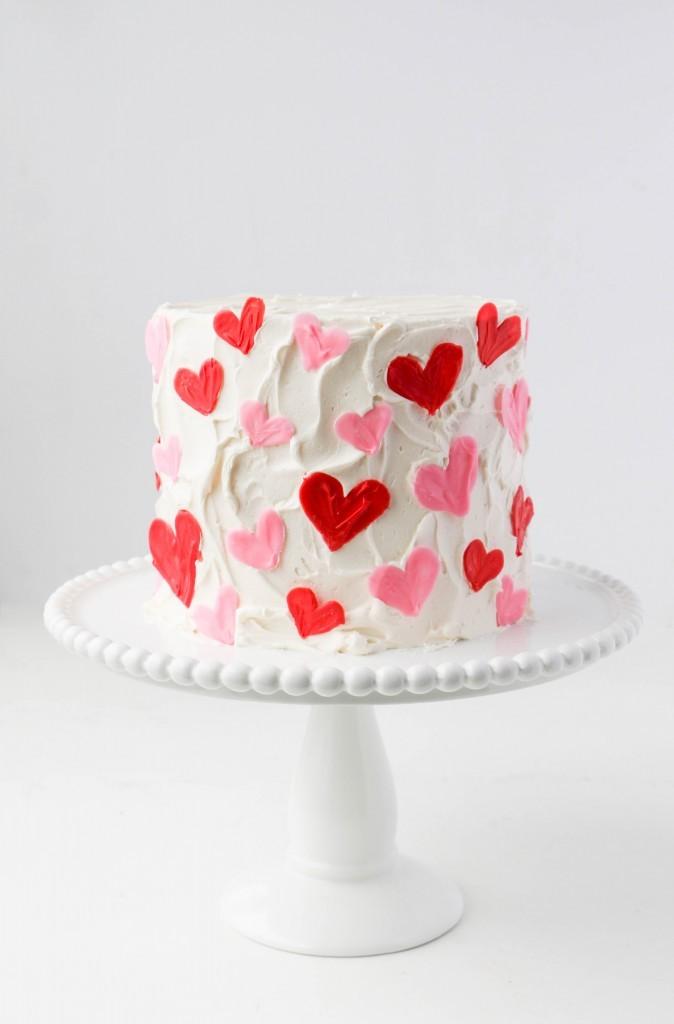 Easy Valentine's Day Cake | ErinBakes.com