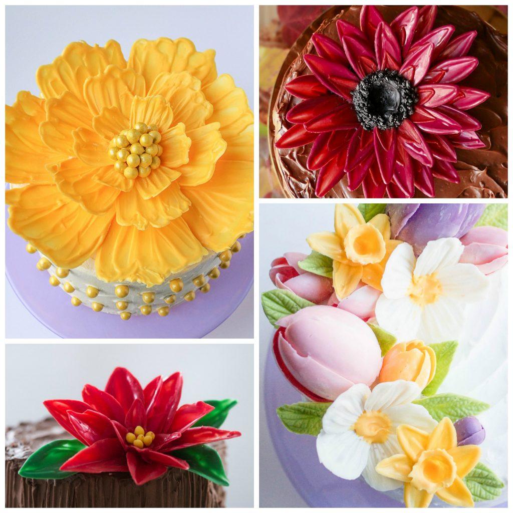 Chocolate Flower Tutorials | Erin Gardner | ErinBakes.com