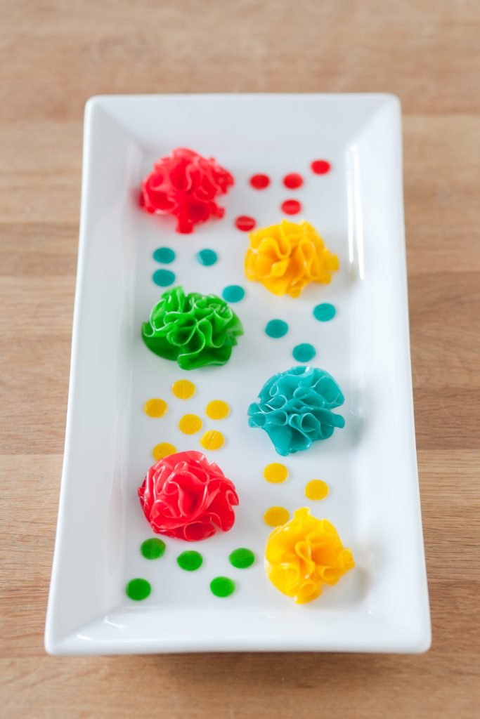 How to Tun Fruit Roll-Ups Into Fun Cake Flower Puffs | Erin Gardner | Erin Bakes
