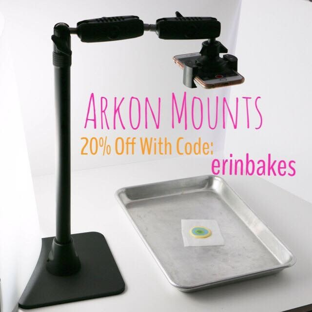 "Use discount code ""erinbakes"" when shopping www.Arkon.com for a 20% discount!"