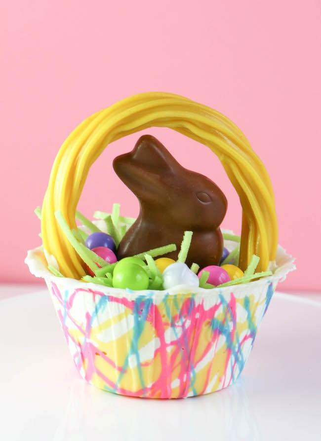 Mini Chocolate Easter Basket   Erin Gardner   Erin Bakes
