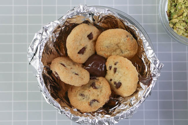 Adding more chocolate to the center. | Erin Gardner | Erin Bakes
