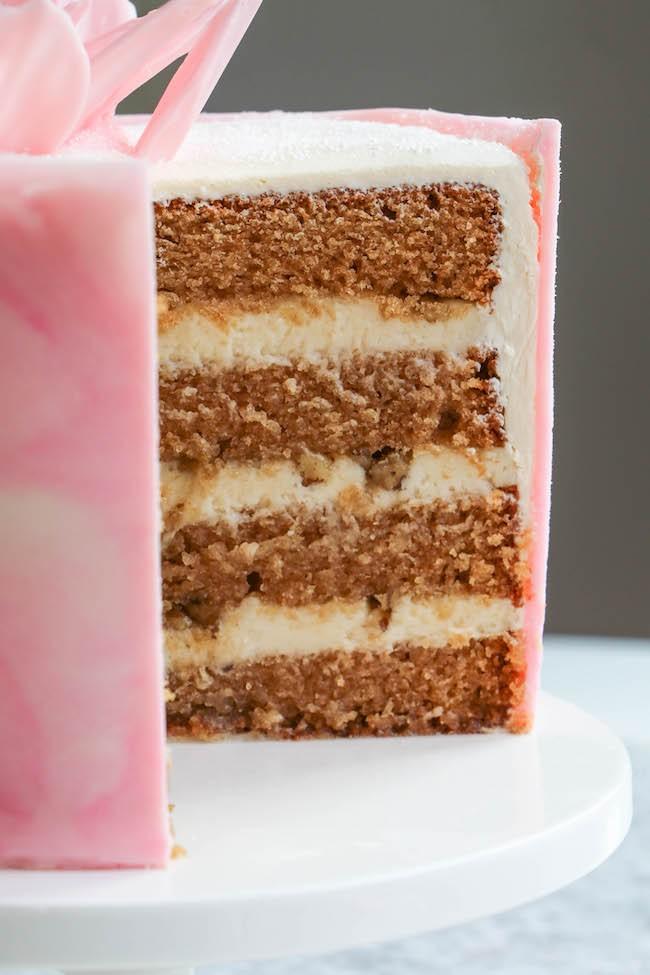 Any Fruit Cake Recipe Apple Sauce Variation from Erin Bakes Cake