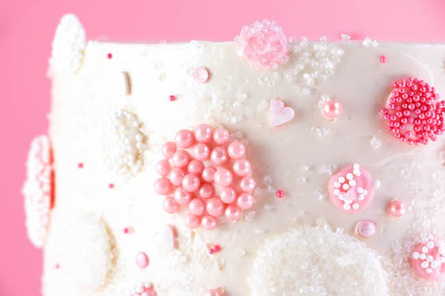 Pink Champagne Chocolate Bubbles with Assorted Sprinkles | Erin Gardner | Erin Bakes