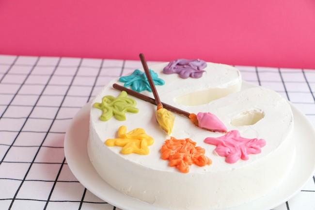 Make an Art Palette Birthday Cake | Erin Bakes