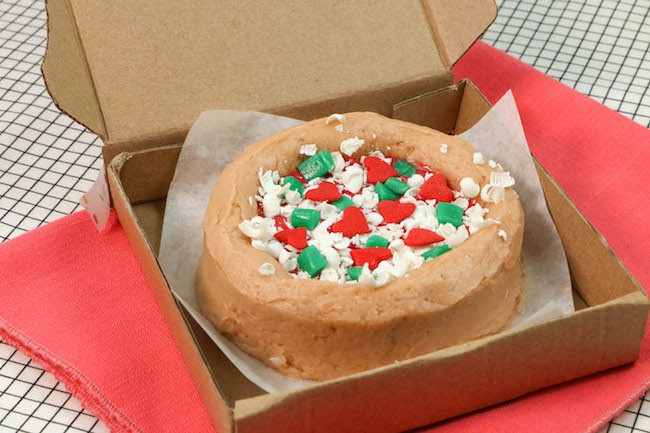 Mini Pizza Cake Topped with Candy, Shredded White Chocolate, and Sprinkles | Erin Gardner | Erin Bakes