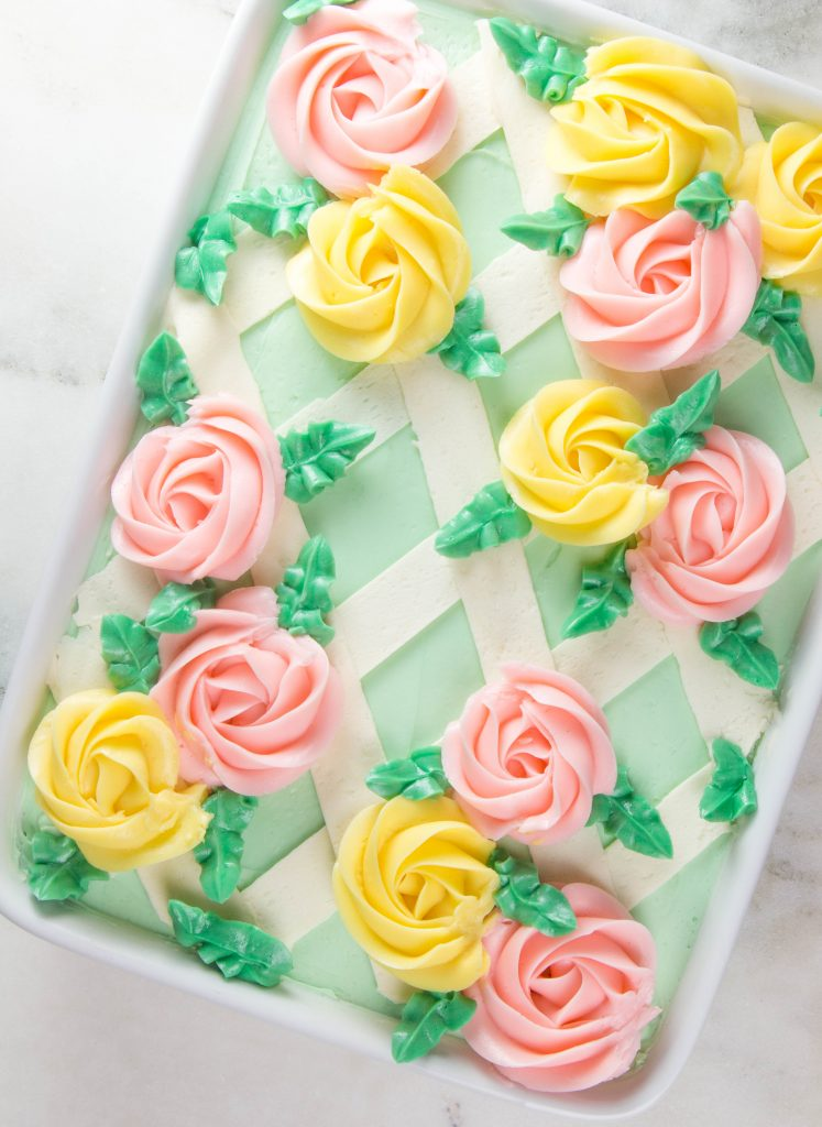 Buttercream Lattice Sheet Cake by Erin Gardner | Erin Bakes