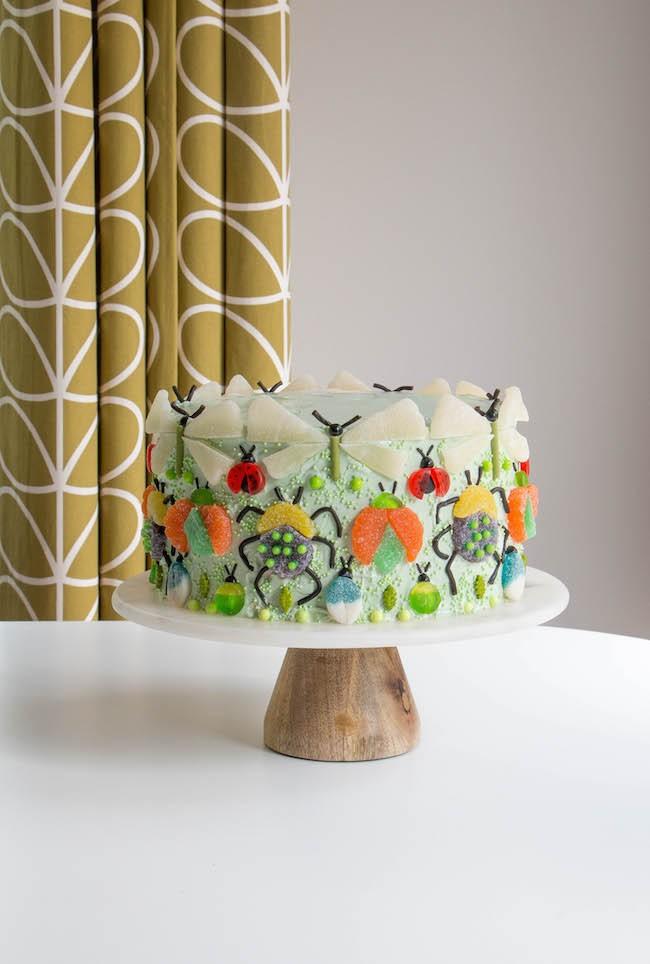 Bug Layer Cake | Erin Gardner | Erin Bakes