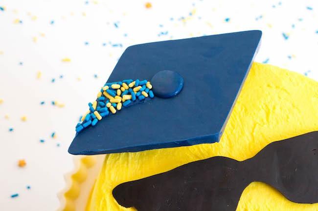 Emoji Graduation Cake Graduation Cap | Erin Gardner | Erin Bakes