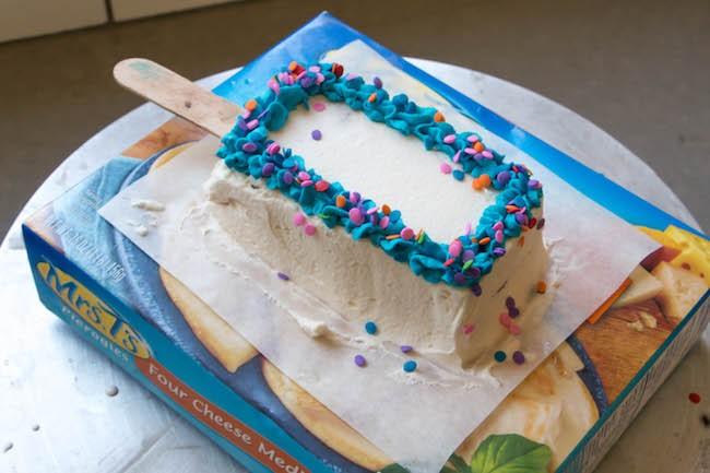 Frosting the Ice Cream Cake Pops | Erin Gardner