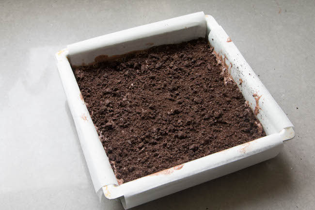 Layer of Chocolate Cookie Crumbles | Erin Bakes