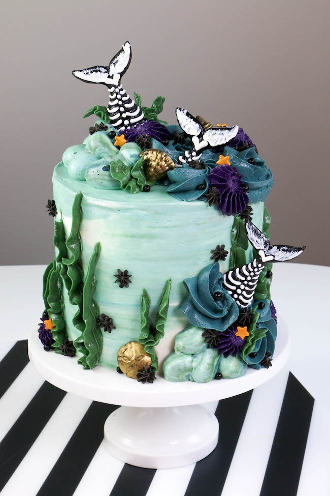 MermaidTail Skeleton Cake | Erin Bakes