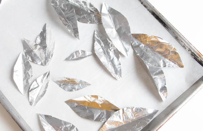 Aluminum Foil Leaf Molds | Erin Bakes