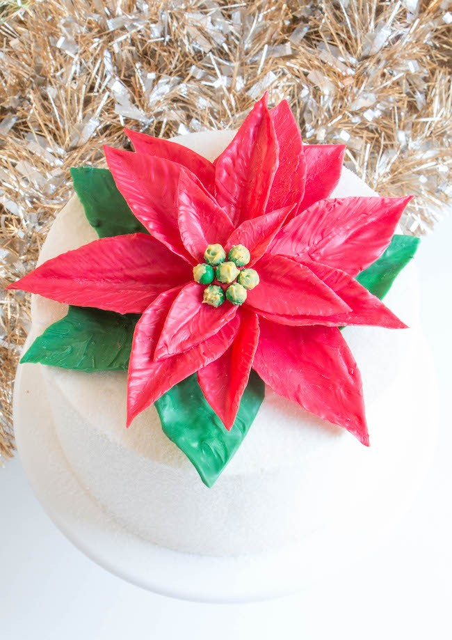 Giant Chocolate Poinsettia Cake | Erin Gardner | Erin Bakes