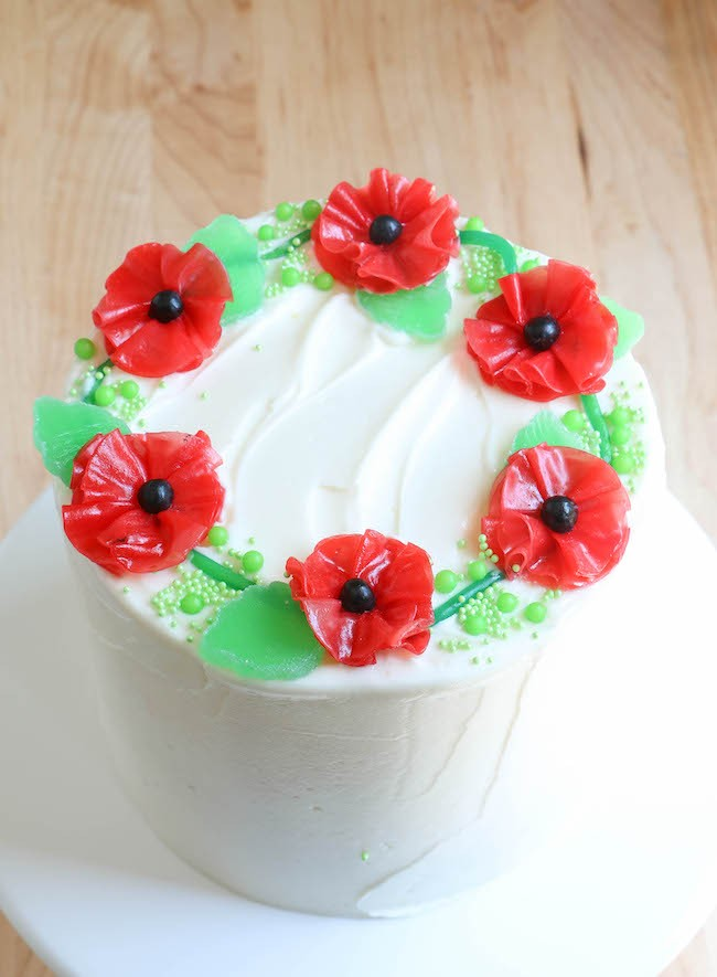 Fruit Roll-Up Flower and Candy Cake | Erin Bakes